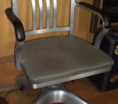 1960s Office Chair + Wood Coffee Table + Vinyl Loveseat