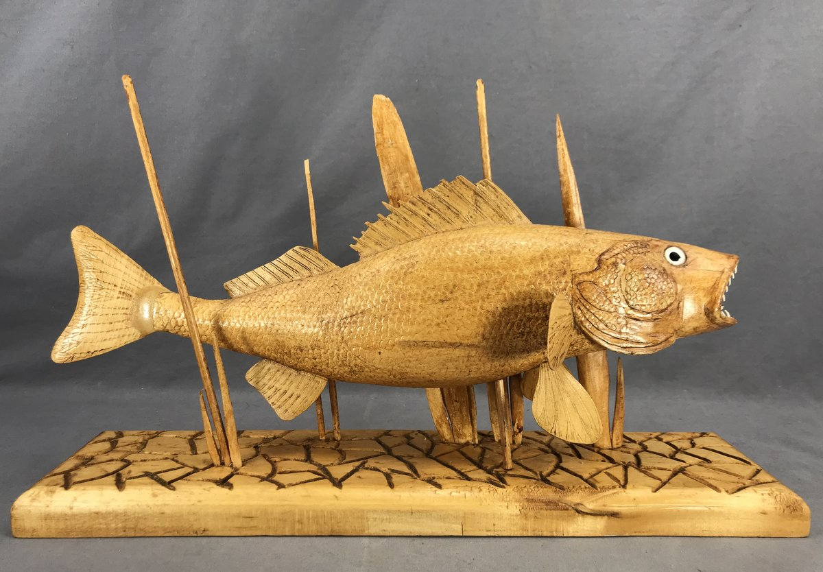 Hand-Carved Walleye