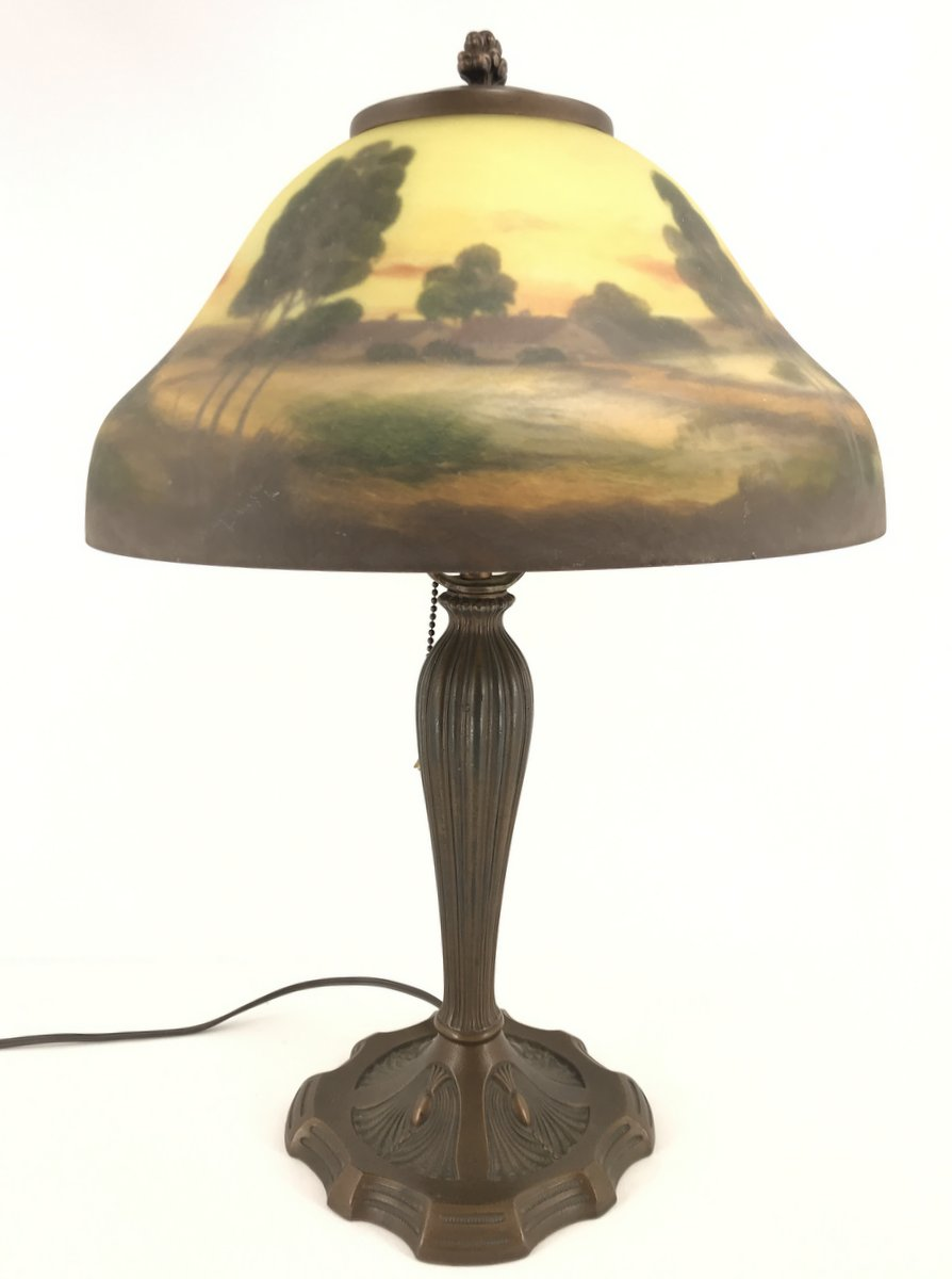 Painted Shade Table Lamp