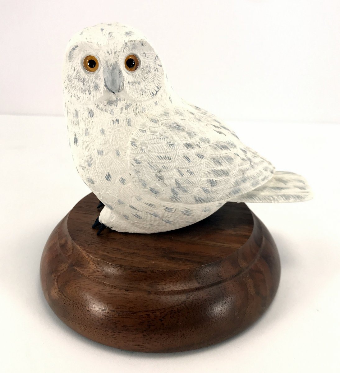 Carved Snowy Owl