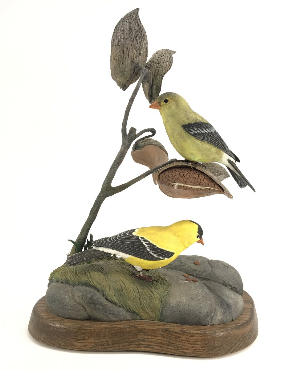 Peter Willis Carved Goldfinches
