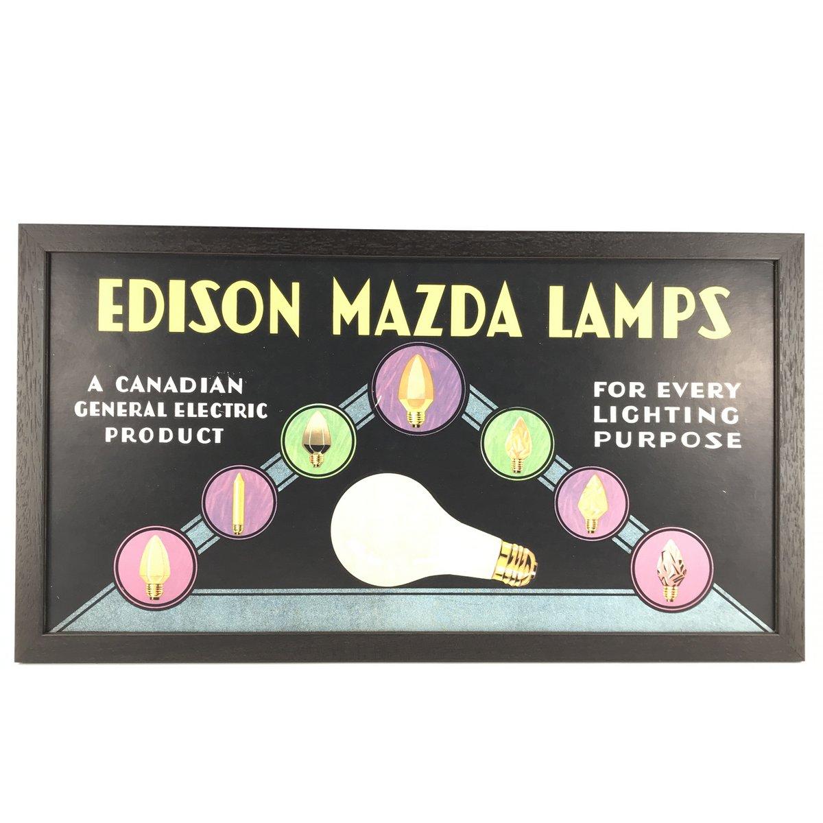 1930's Edison Bulbs Sign