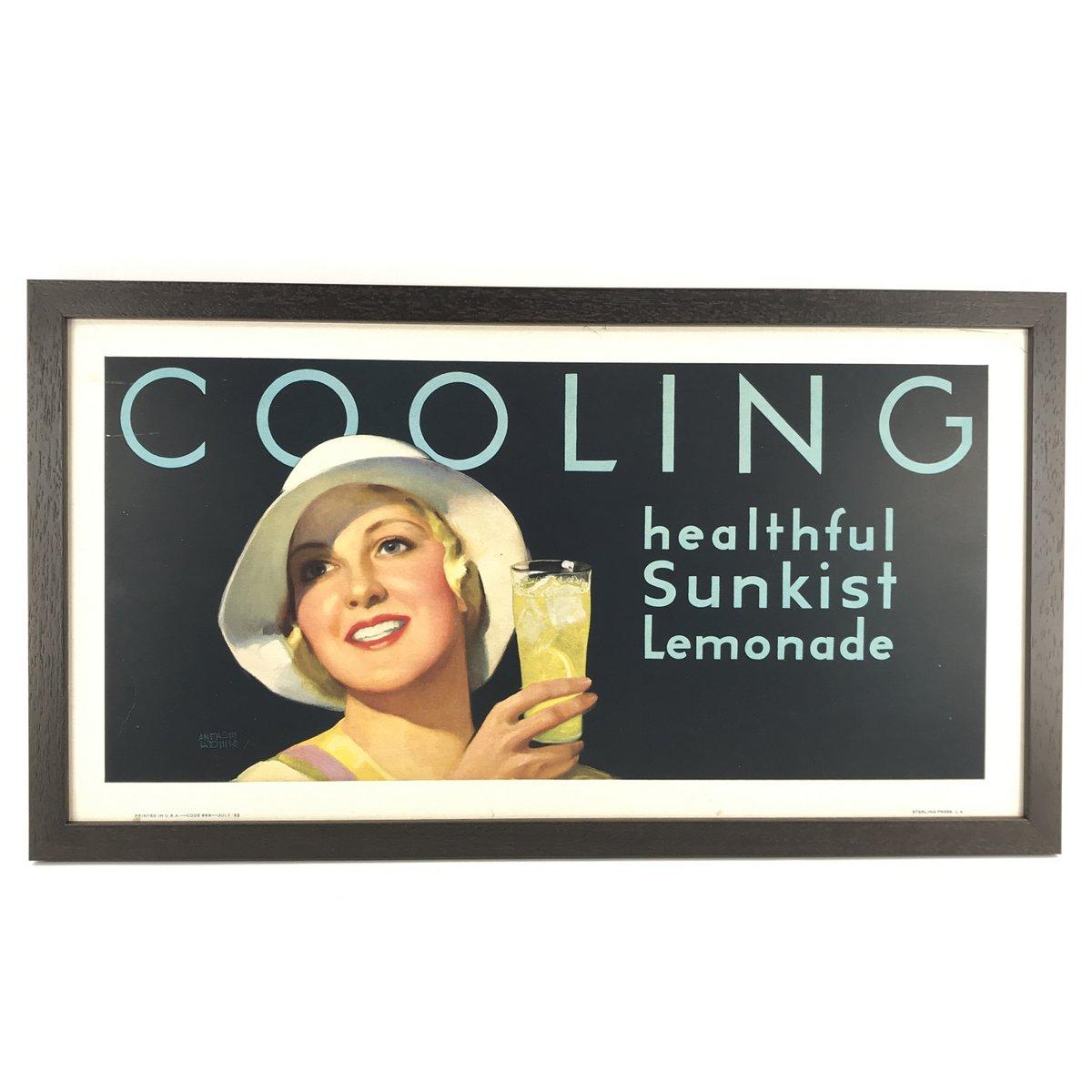 1932 Sunkist Lemonade Sign