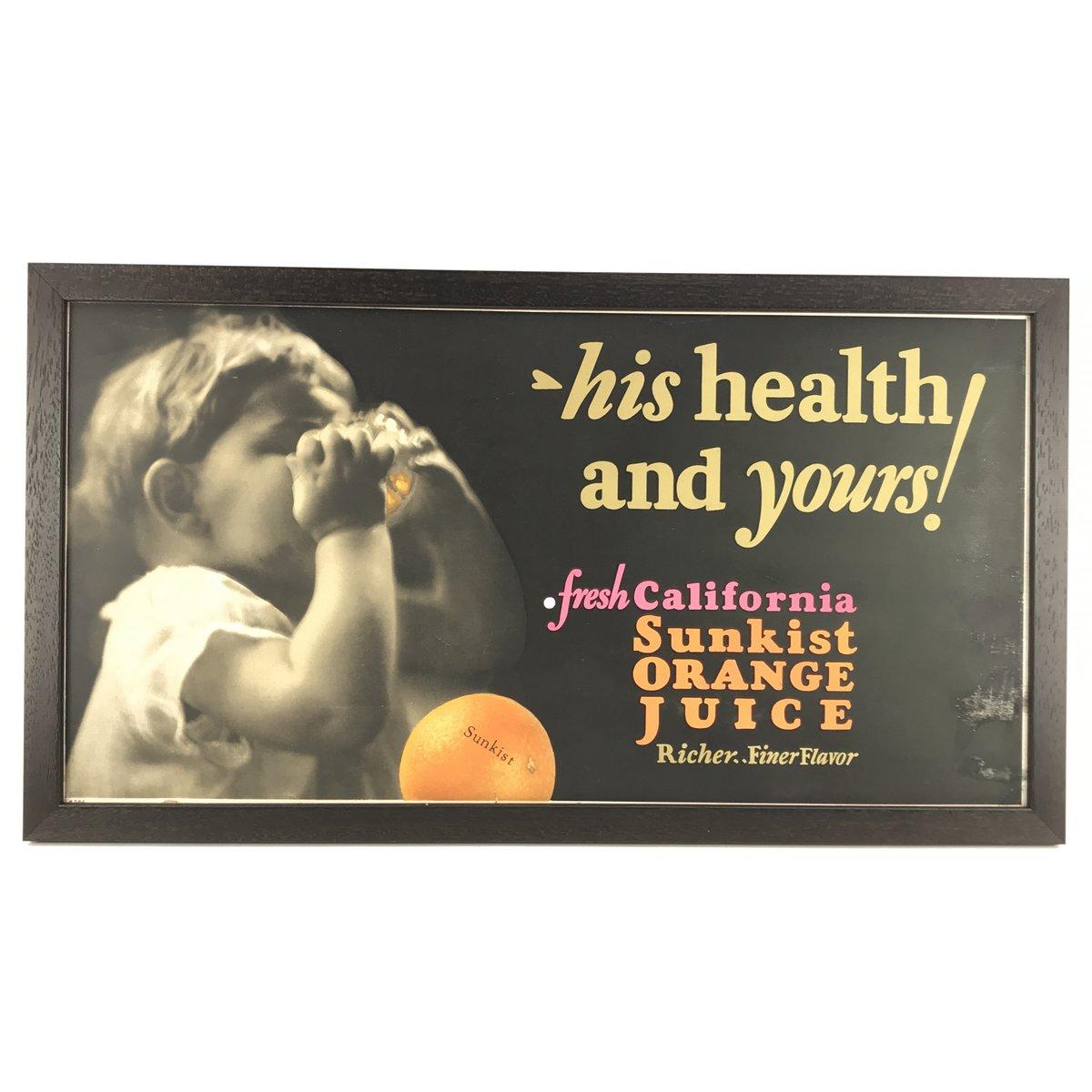 1930's Sunkist Orange Juice Sign