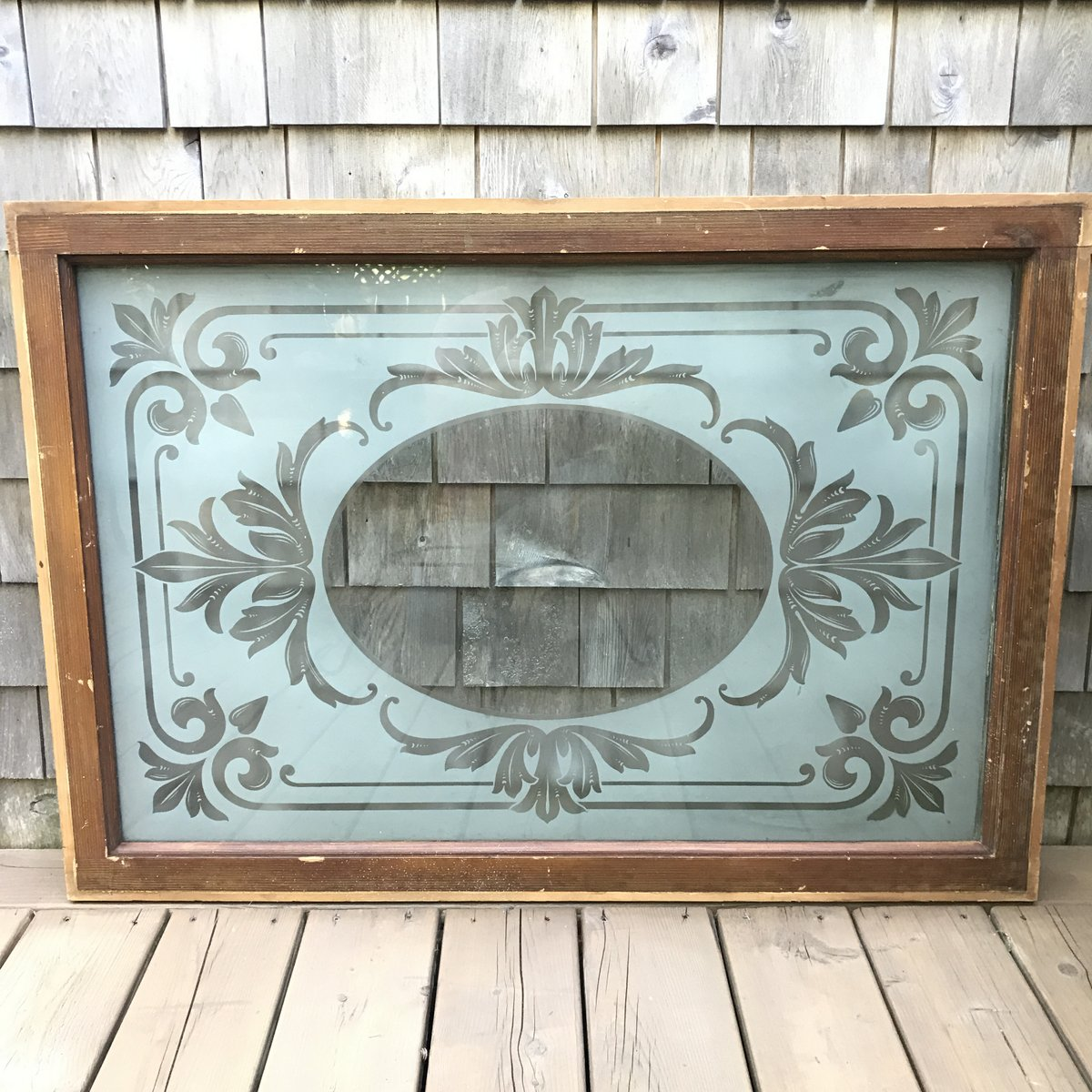 Victorian Etched Glass Store Window