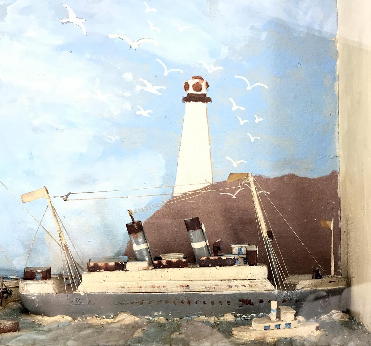 Small Folky Nautical Diorama