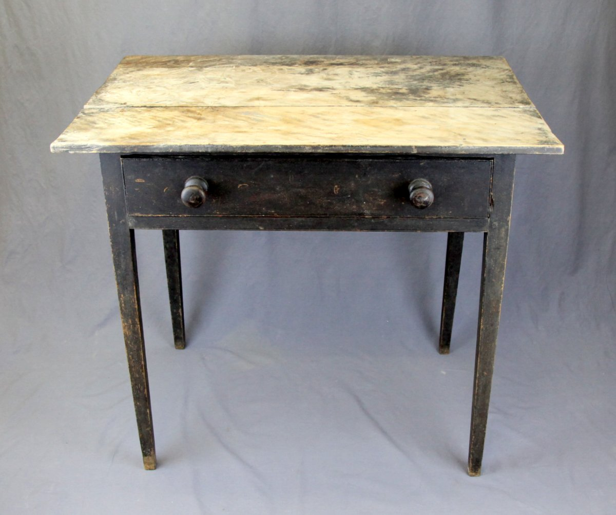 N.S. Birch 1-Drawer Table