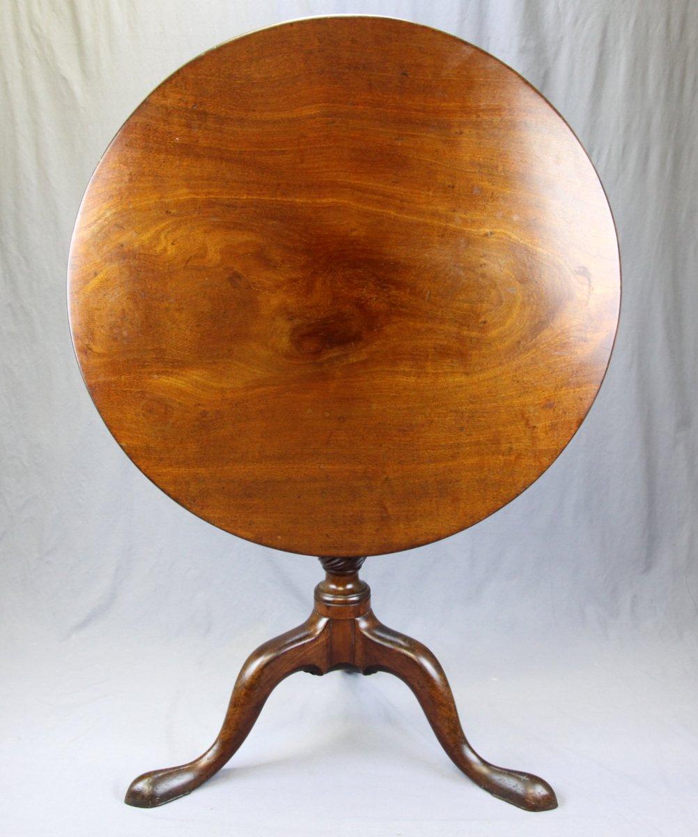 Mahogany Tilt-Top Tea Table