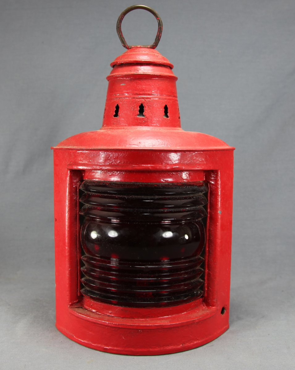 Red Perko Boat Lamp