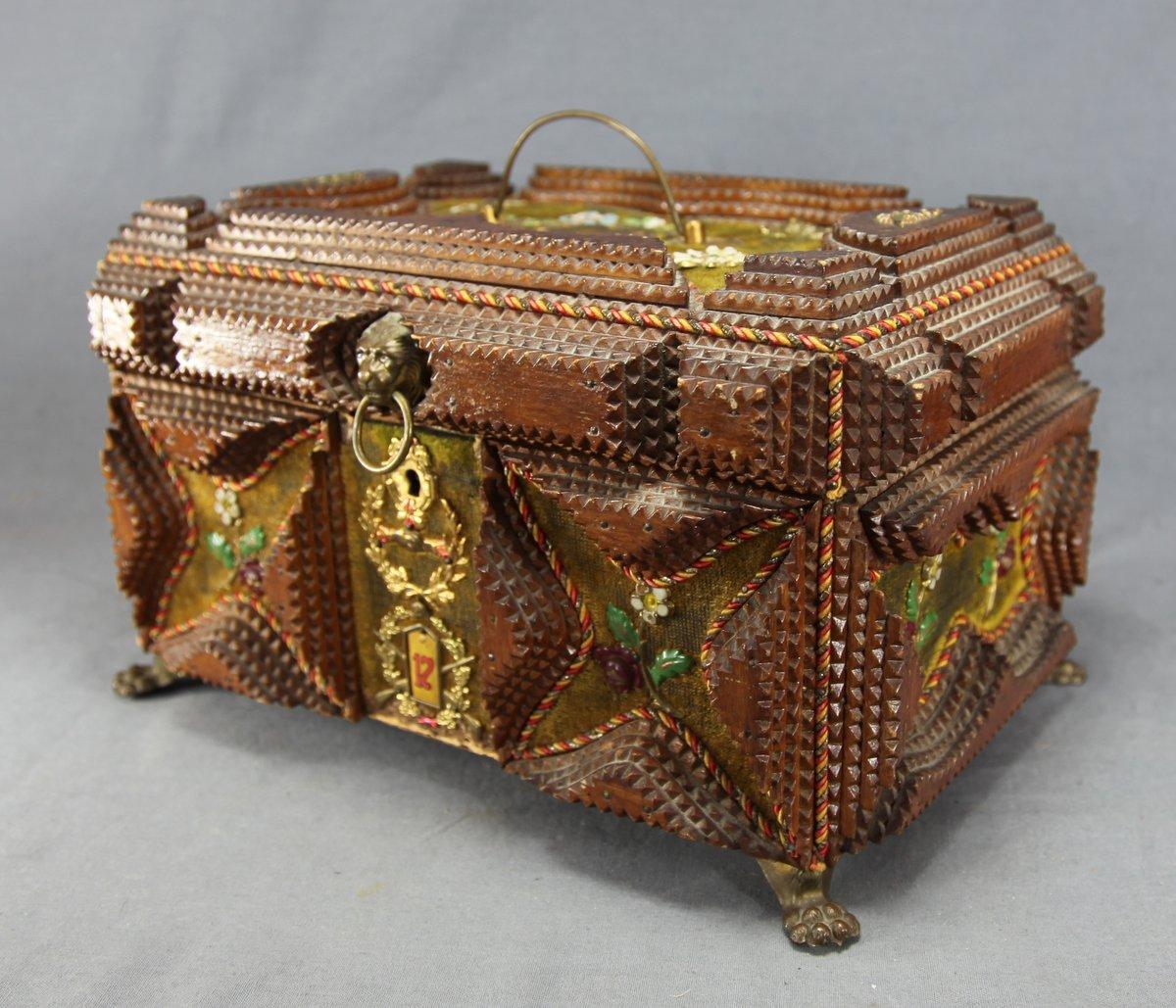 Chip-Carved Tramp Art Box
