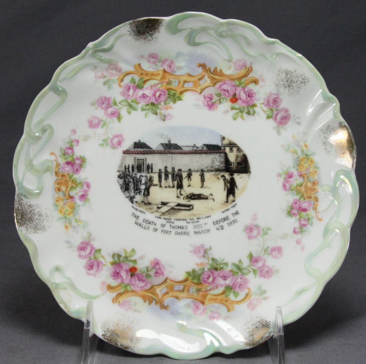 Riel Rebellion Souvenir Plate