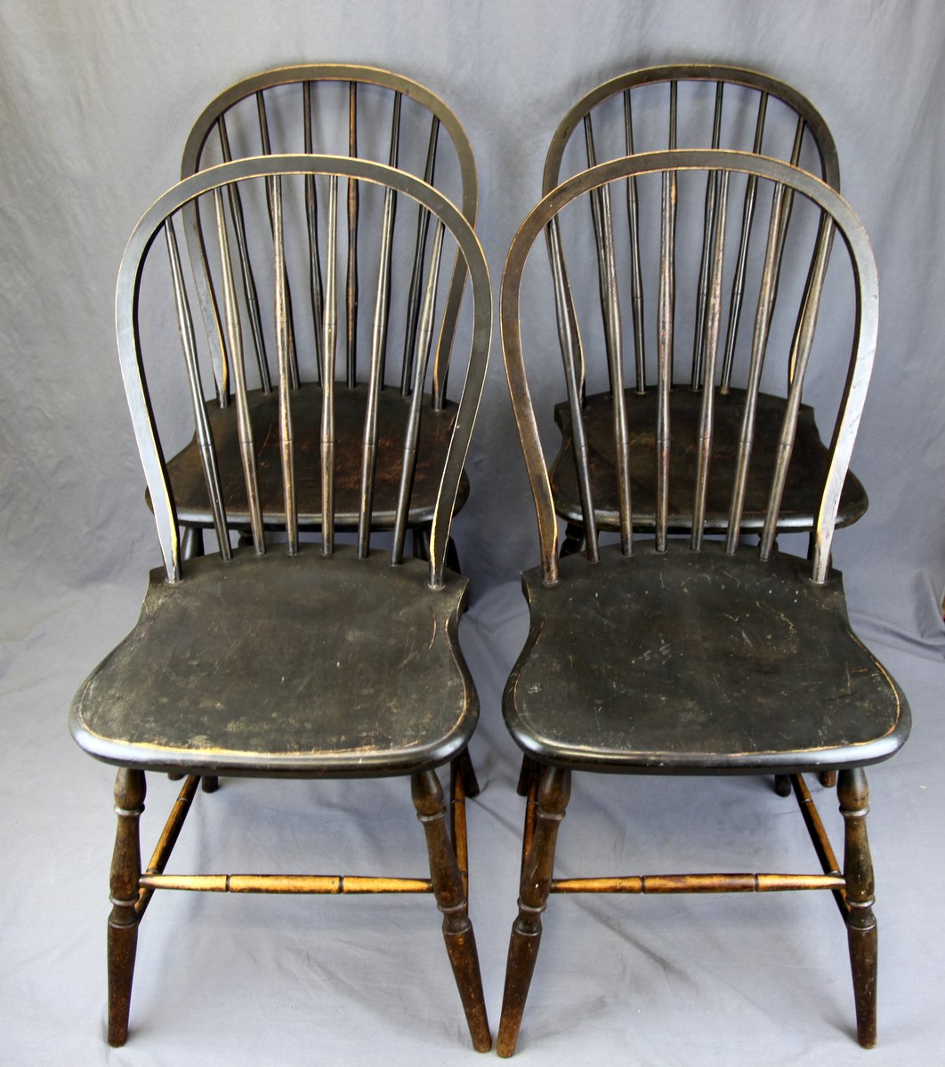 Four Factory Windsor Chairs