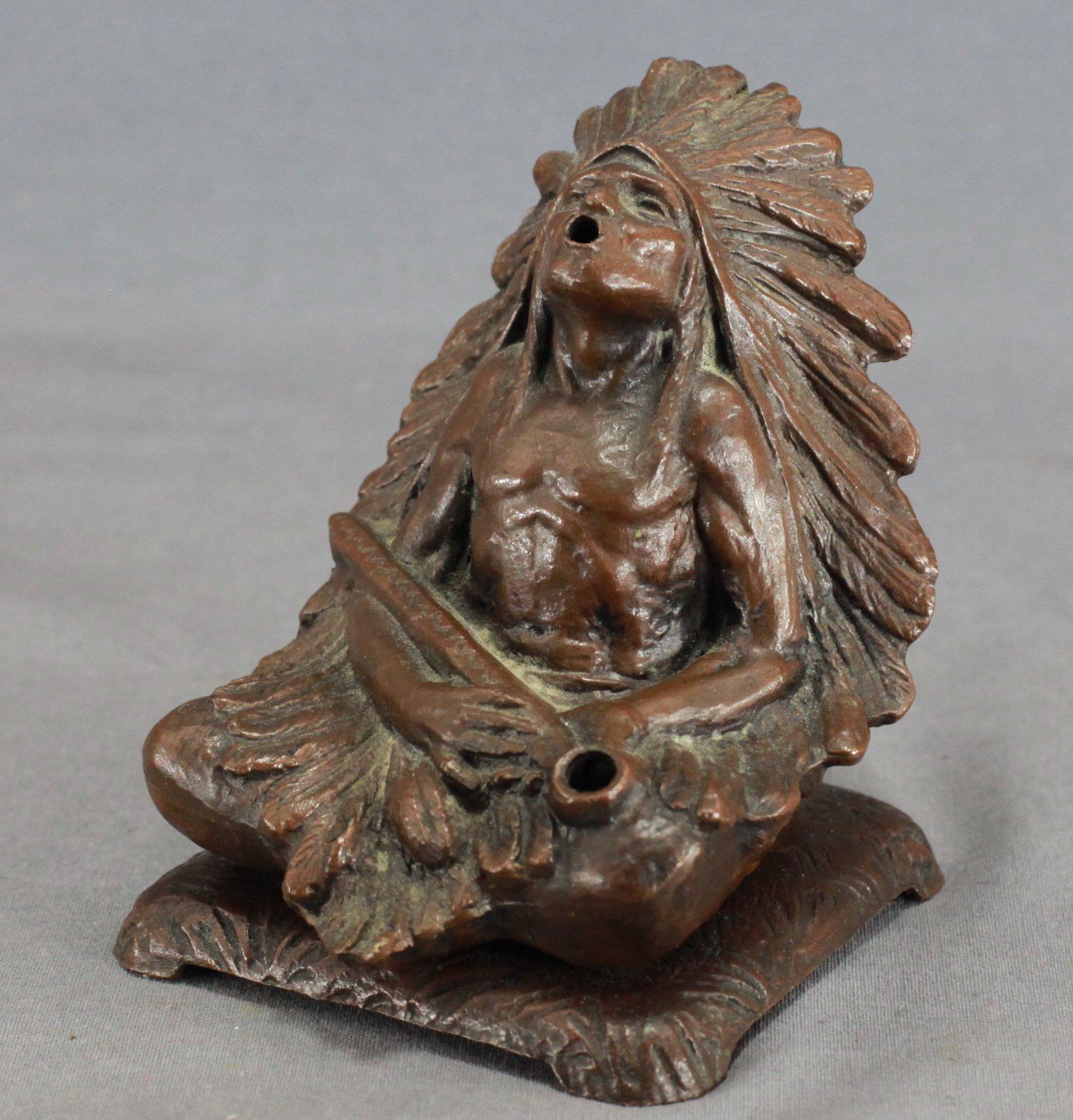 Indian Chief Incense Burner