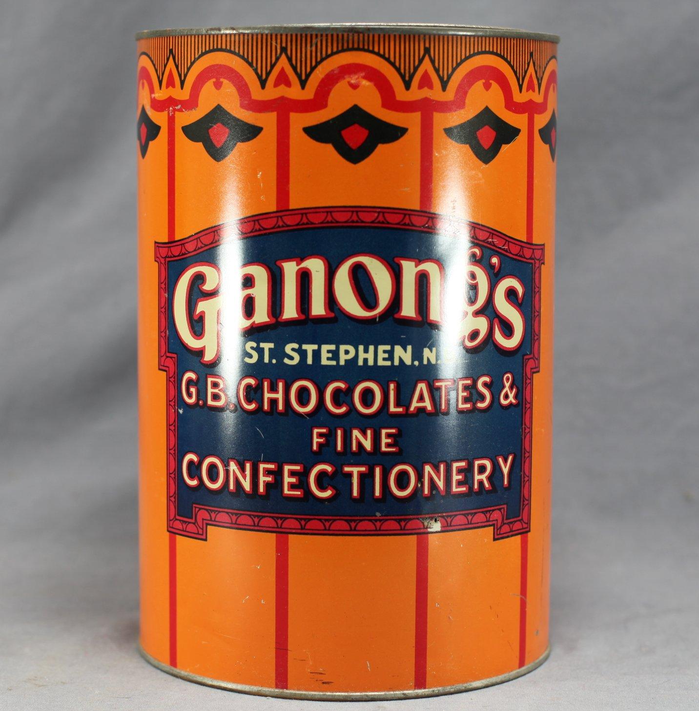 Ganong's NB Chocolates Tin