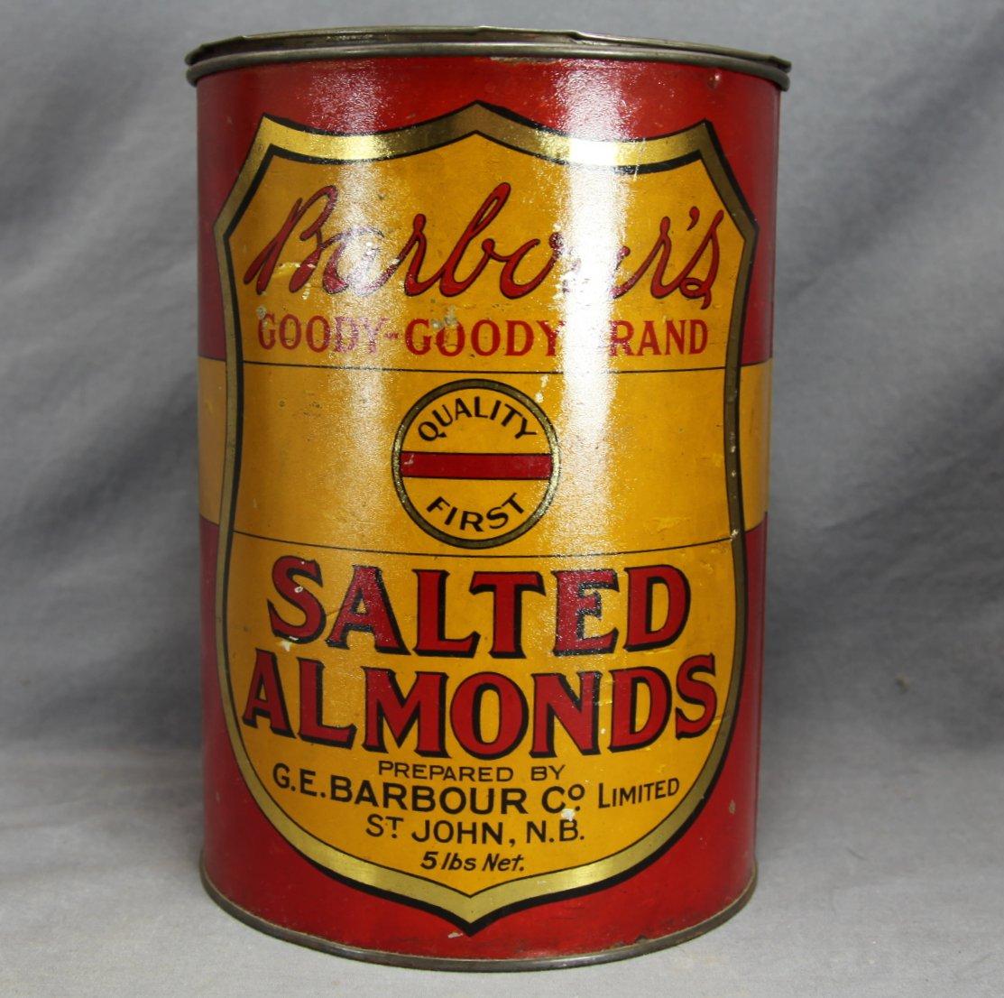 Barbour's NB Almonds Tin