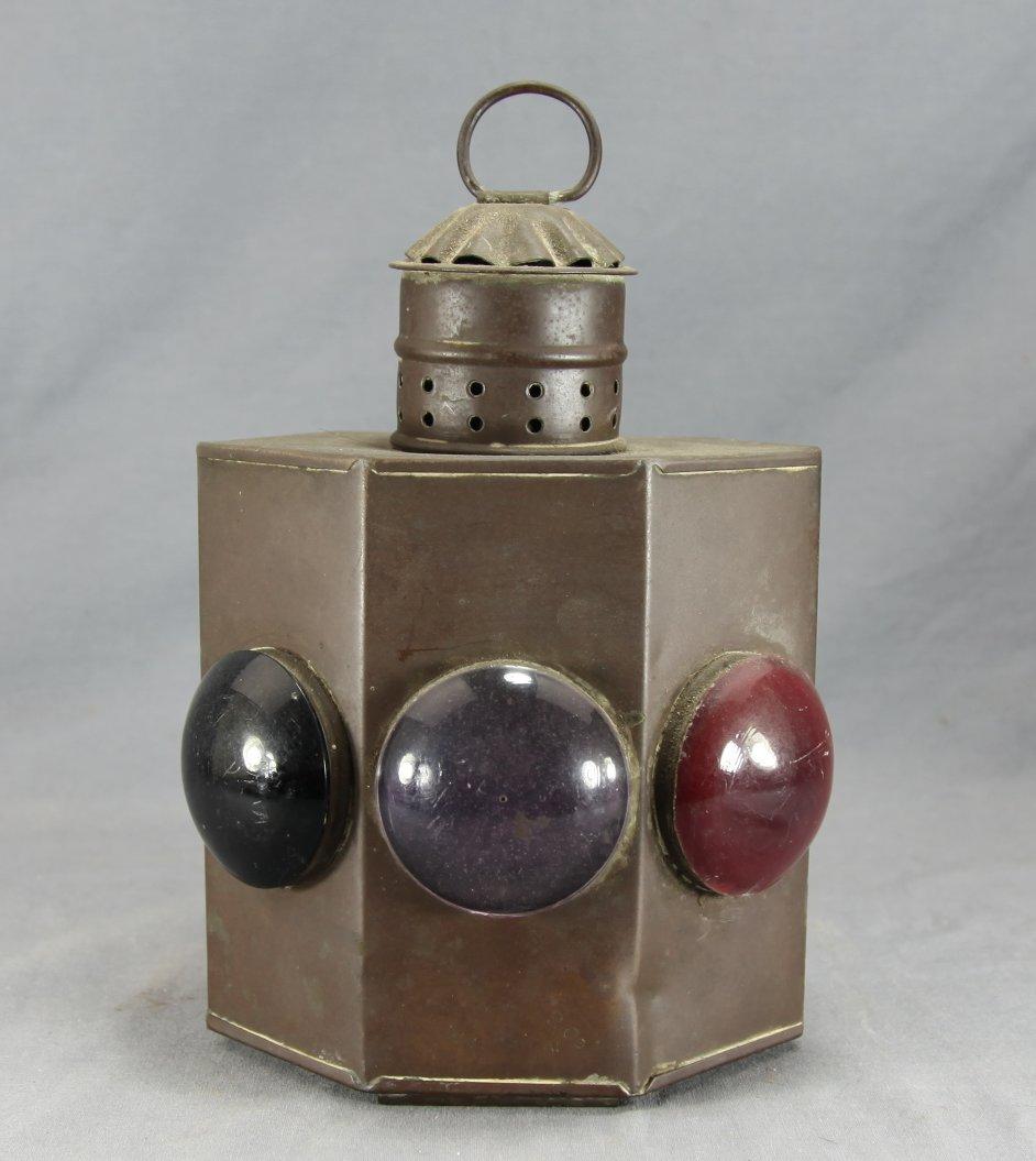 A 3-Lens Copper Boat Lantern