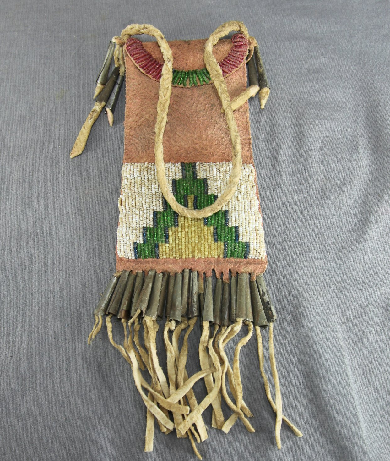 Plains Indian Beaded Pouch
