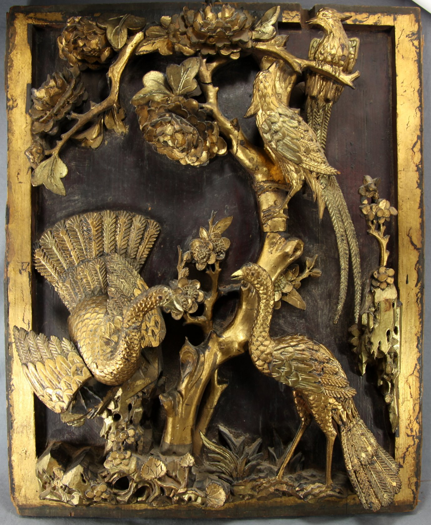 Carved Chinese Panel