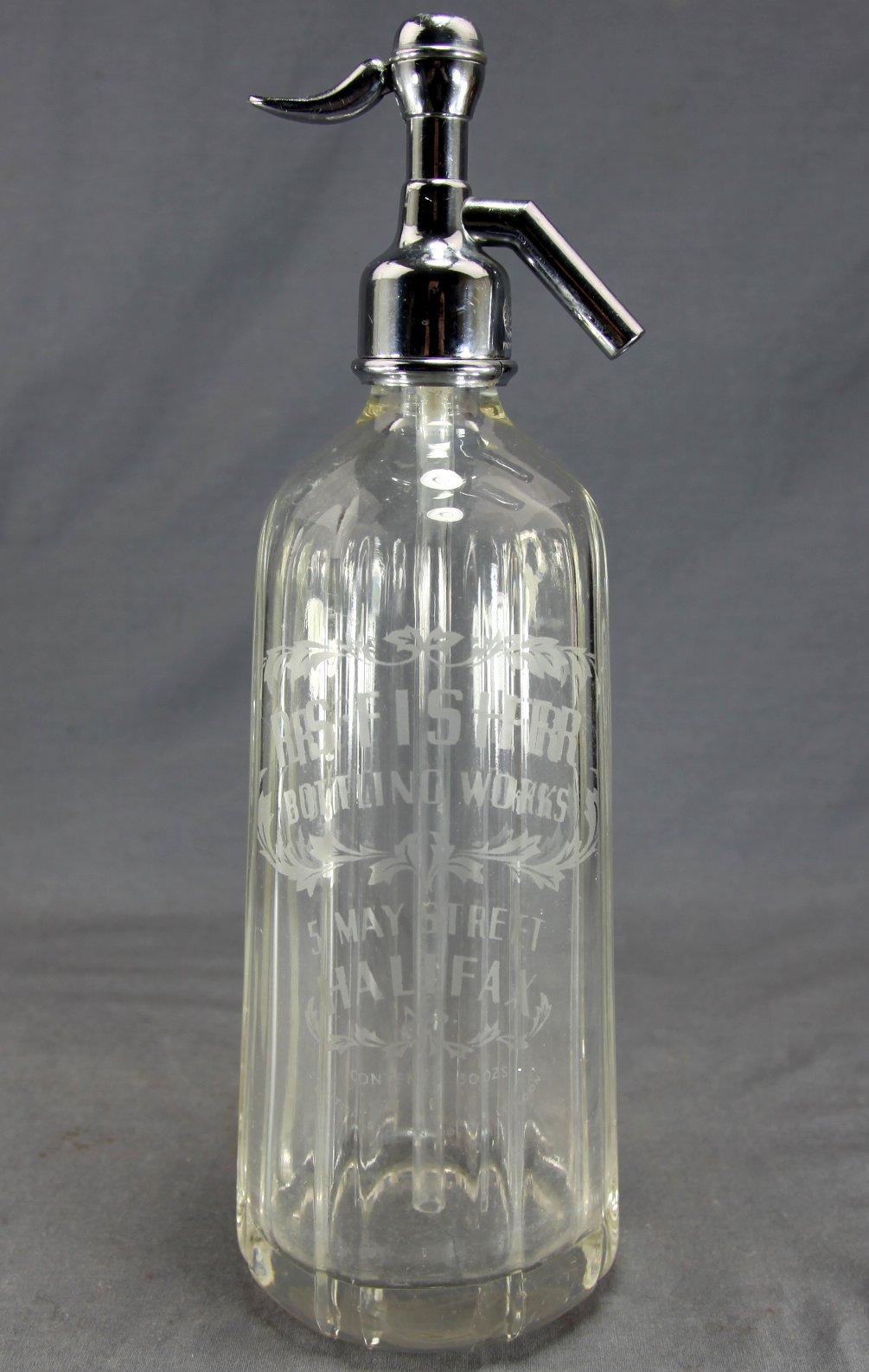 R.S. Fisher Soda Syphon Bottle