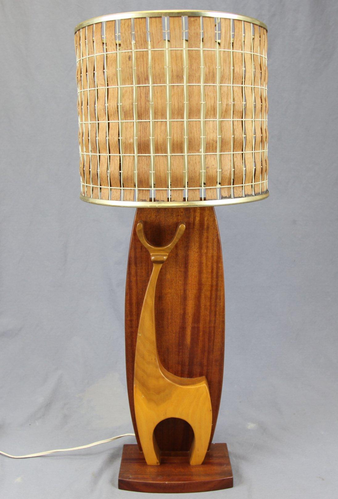 Mid-Century Deer Lamp