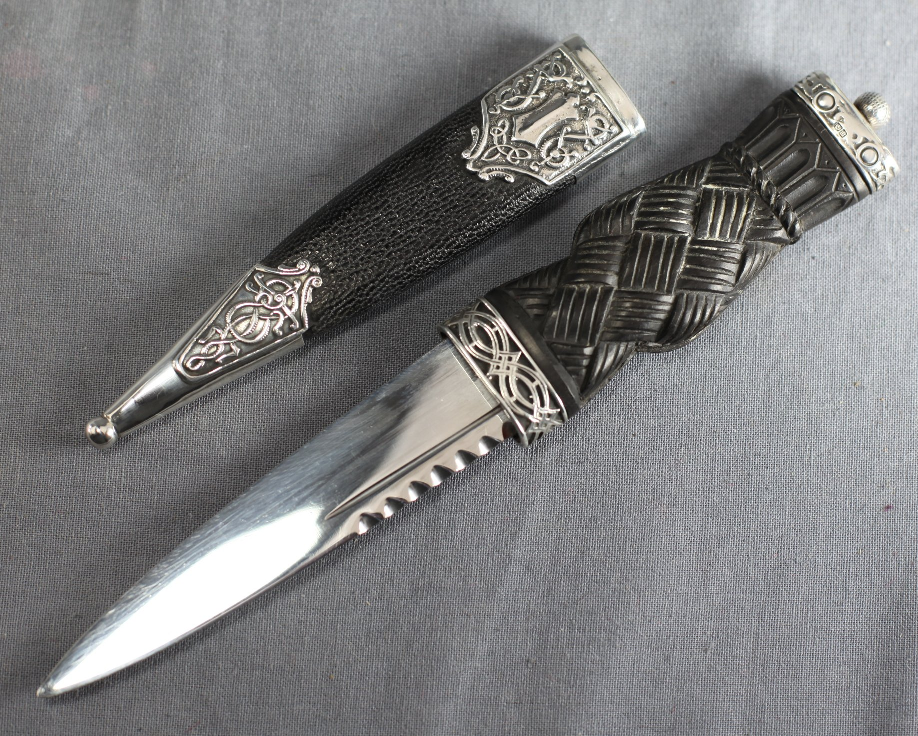 Sterling-Mounted Sgian Dubh