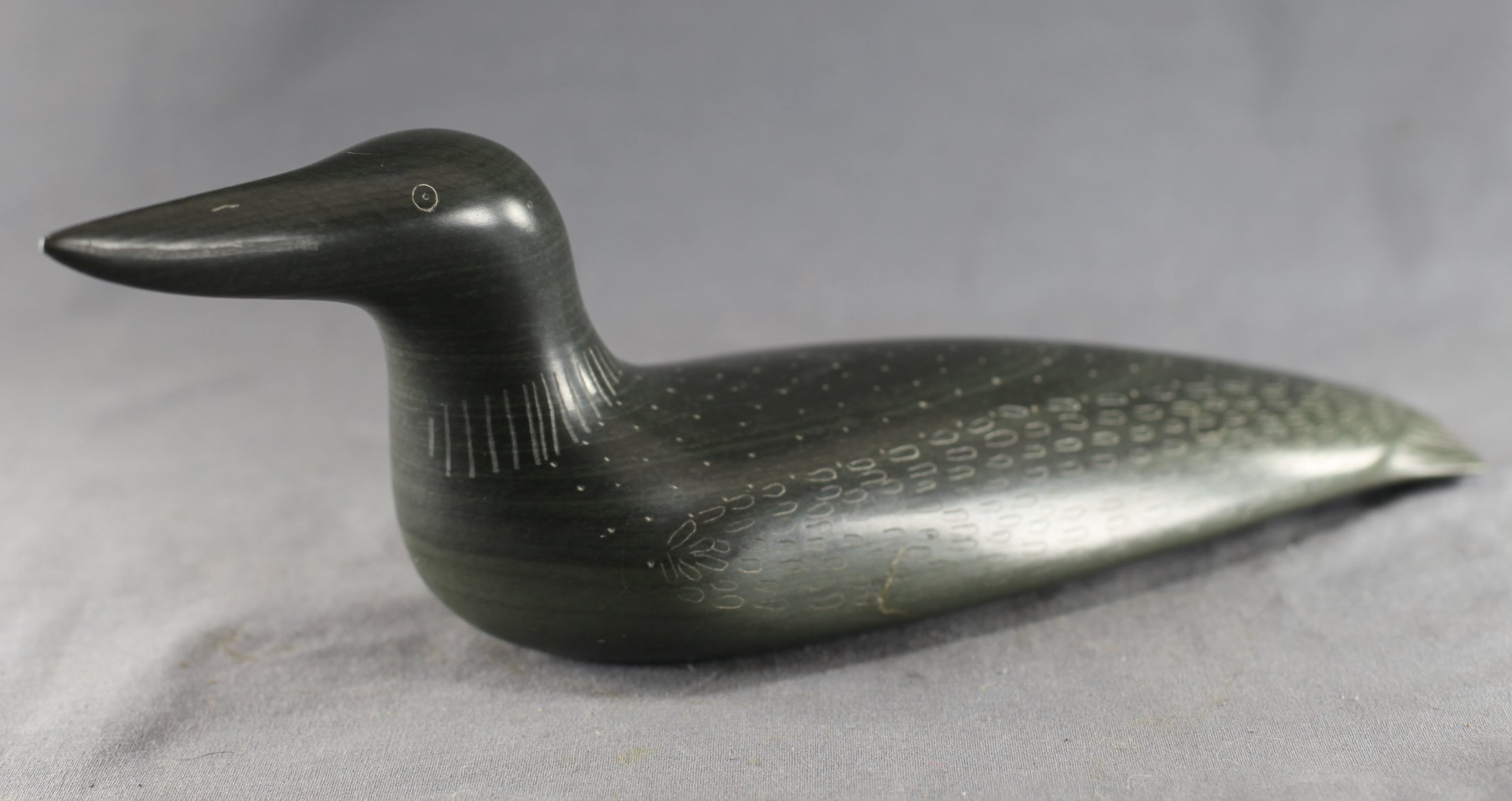 Inuit Carved Soapstone Loon