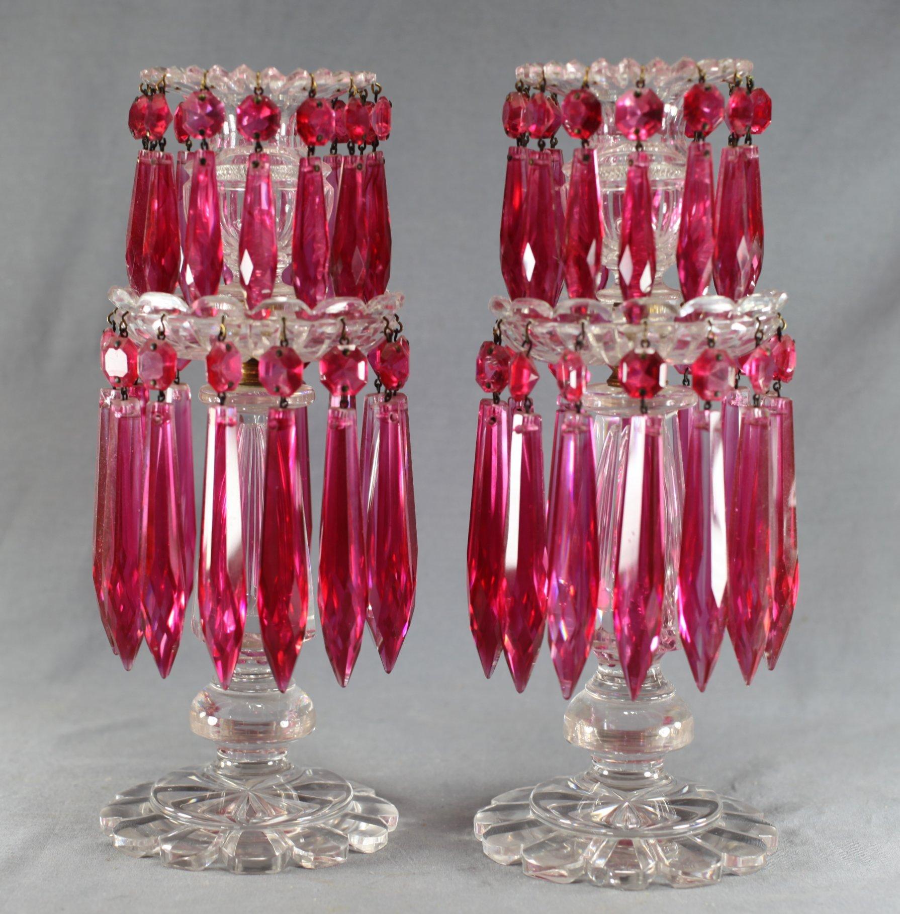 Regency 2-Tier Glass Lustres