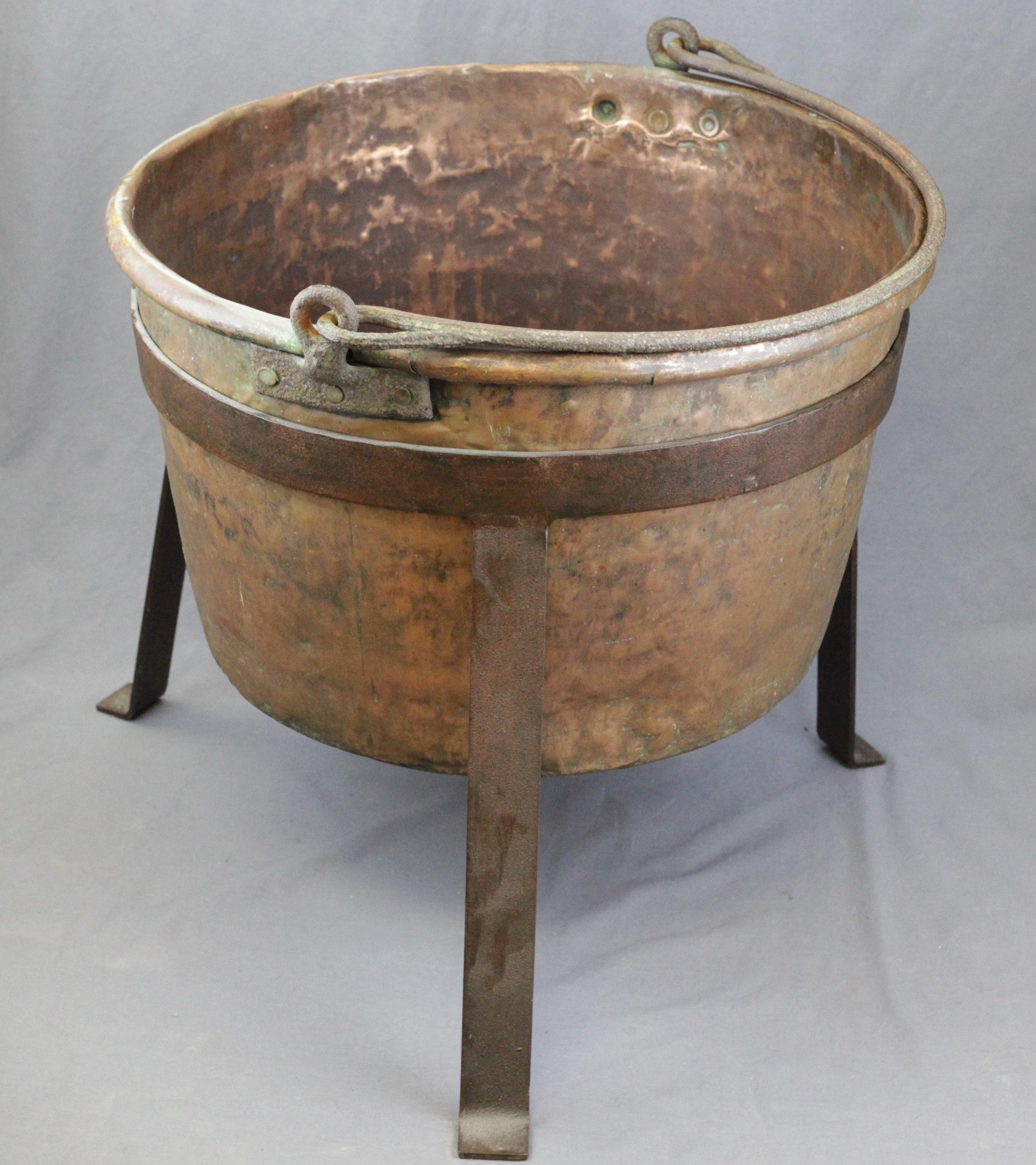 Copper Cauldron & Stand