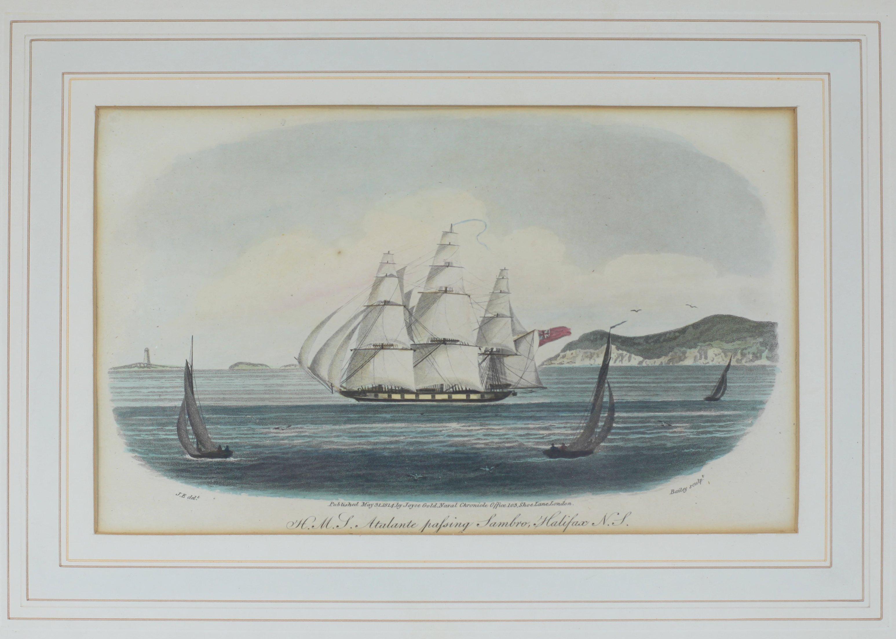 HMS Atalante Passing Sambro