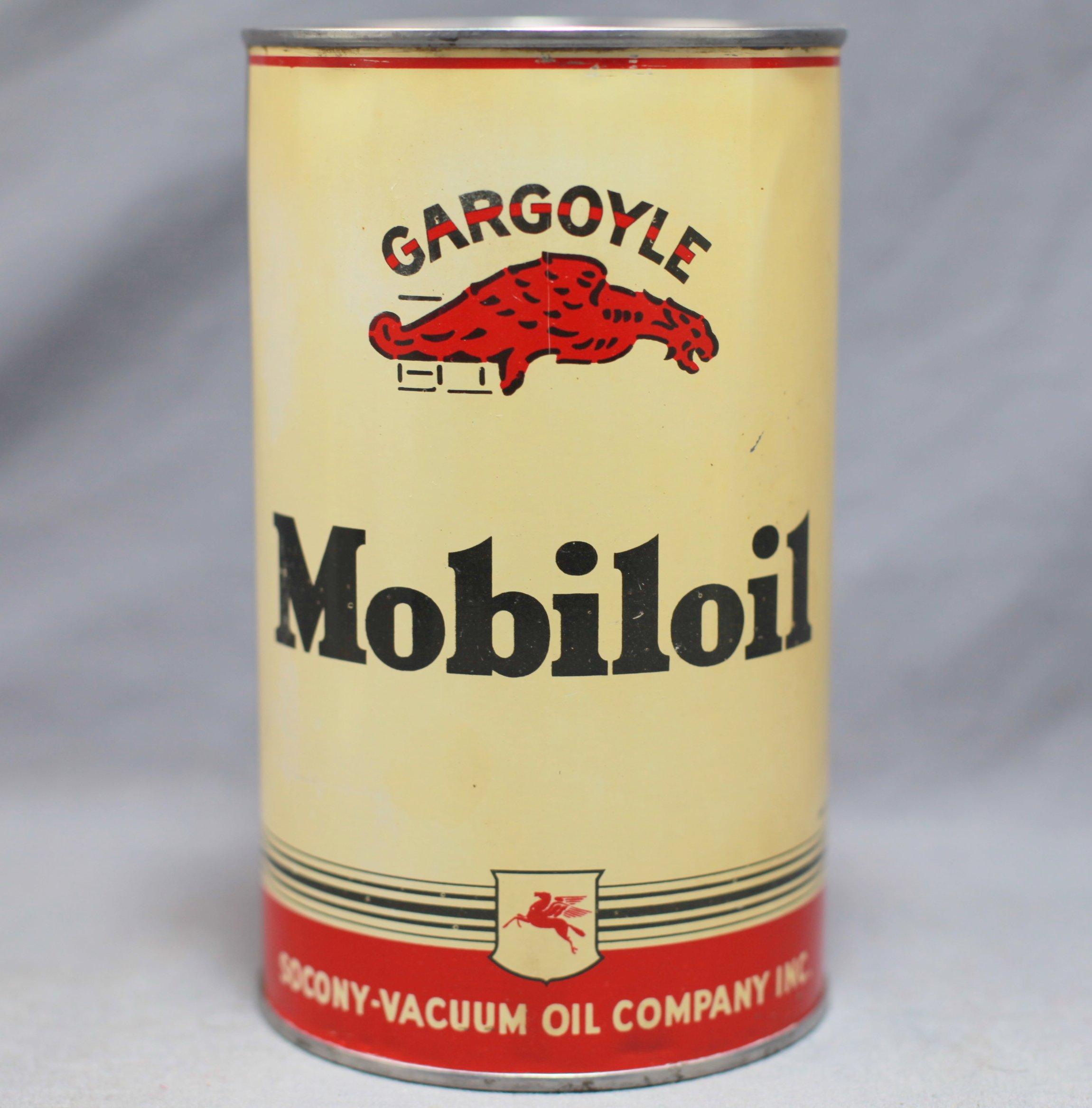 Mobiloil Gargoyle Quart Can