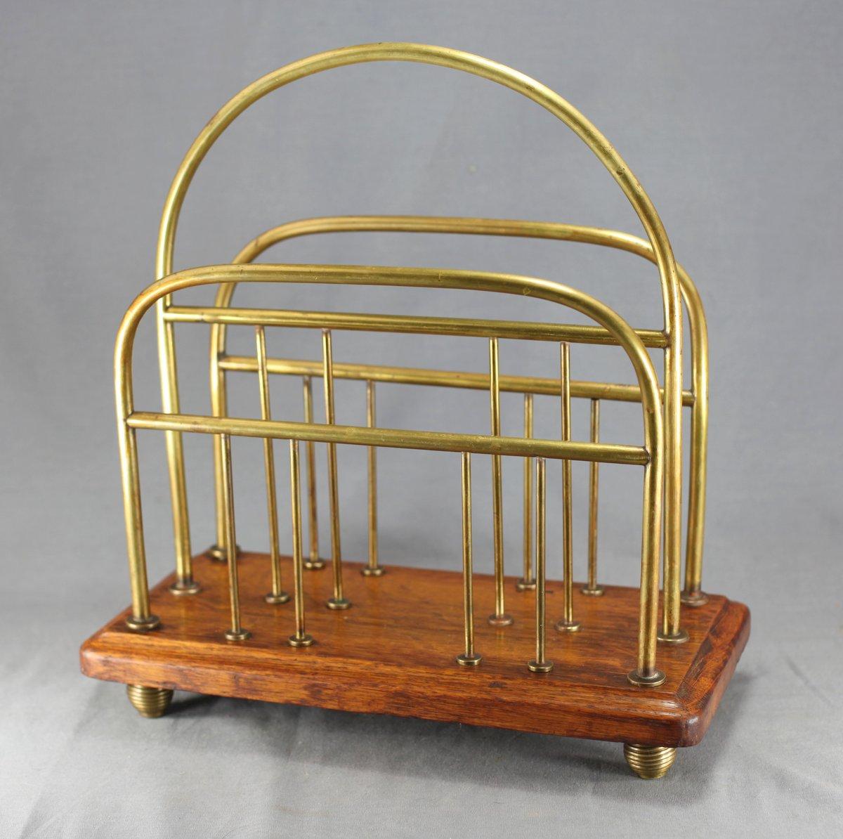 Brass & Oak Magazine Rack