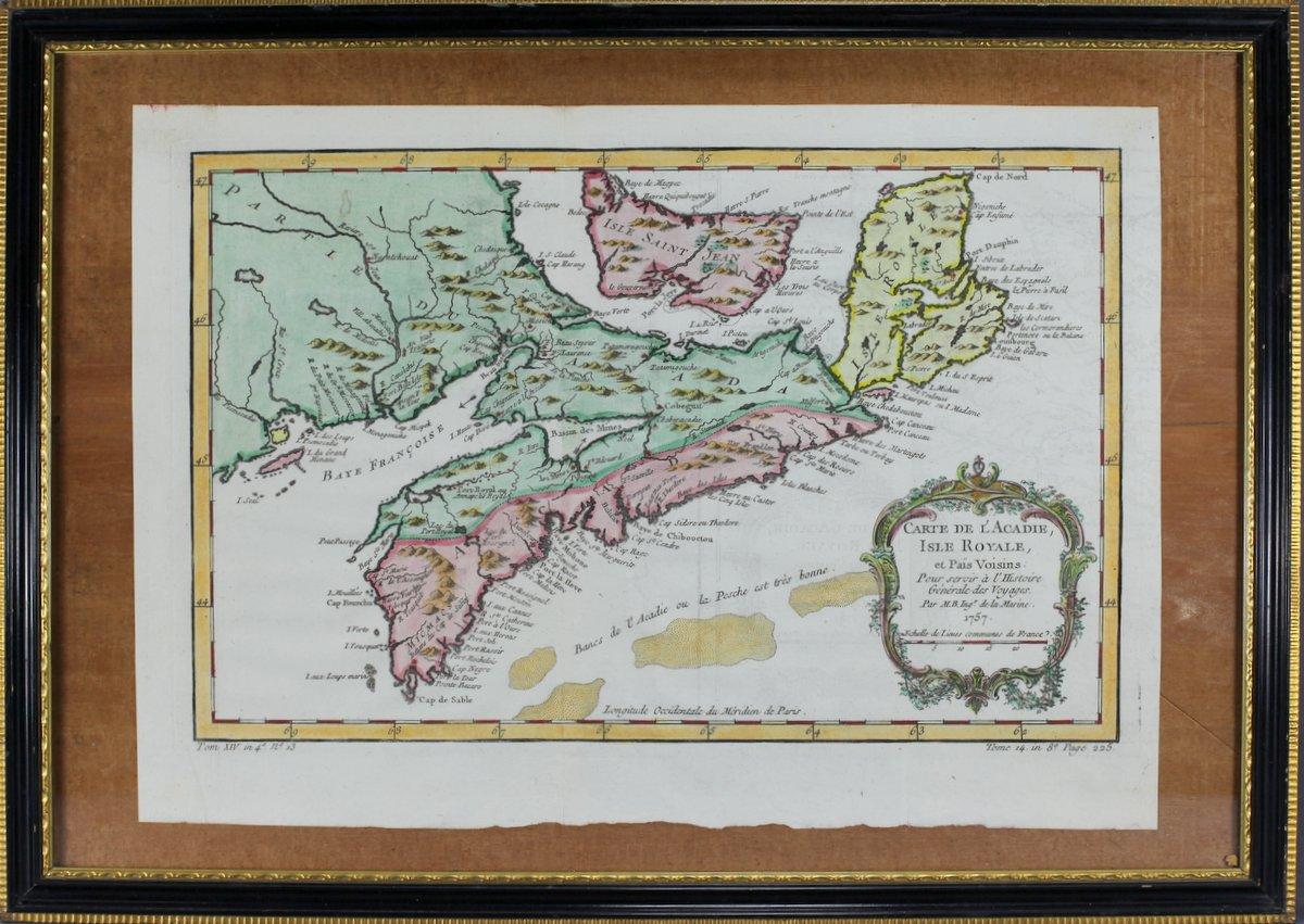 1757 Map of Nova Scotia