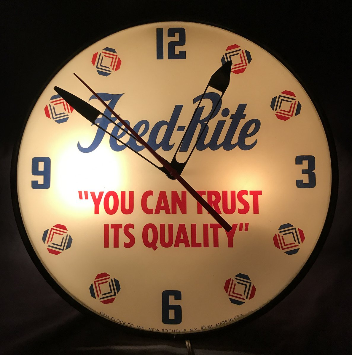 Feed-Rite Advertising Clock