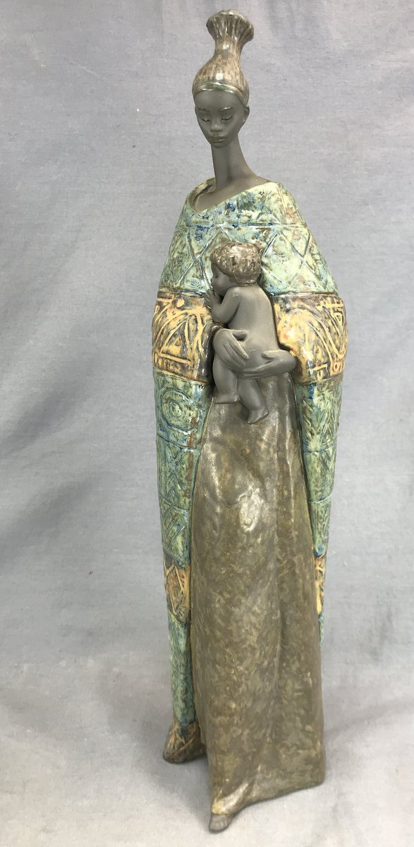 Lladro African Mother & Child
