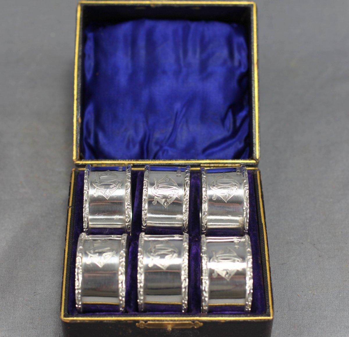 Sterling Napkin Ring Set