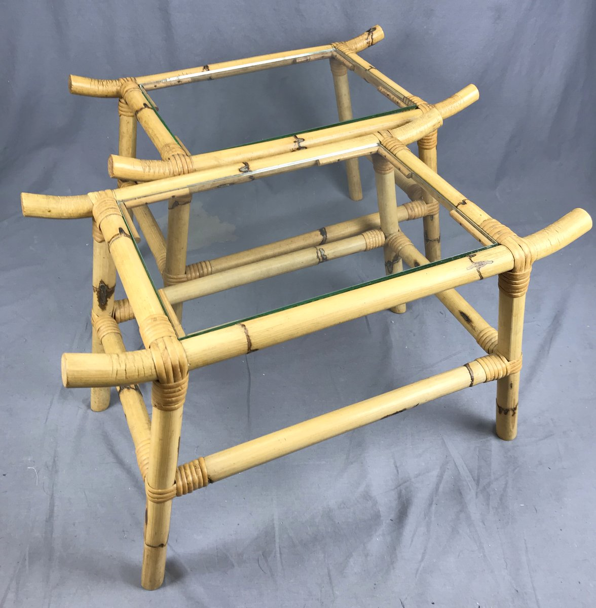 Pr. Small Bamboo Tables